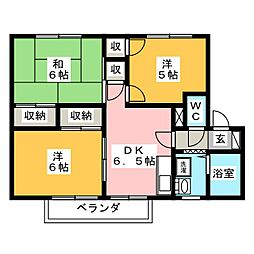 フロンティア E棟[2階]の間取り