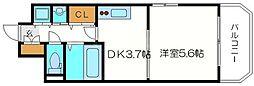 レジュールアッシュ梅田レジデンス[11階]の間取り