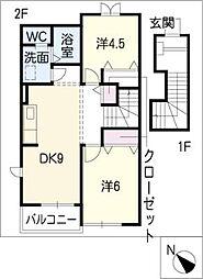 メゾン桜II[2階]の間取り
