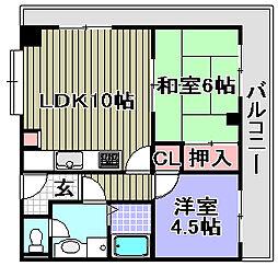 ABCライフ東岸和田[502号室]の間取り