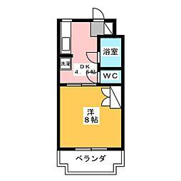 マンションモンマルトル[4階]の間取り