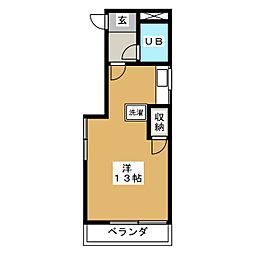 美徳五番館[2階]の間取り