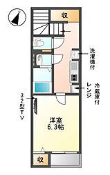 クレイノKAGOHARAII[1階]の間取り