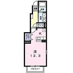 徳島県板野郡北島町鯛浜字西ノ須の賃貸アパートの間取り