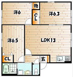 セーズ・プルミエ A棟[1階]の間取り