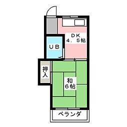 カームハウス[2階]の間取り
