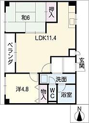 サンライズマンション[4階]の間取り