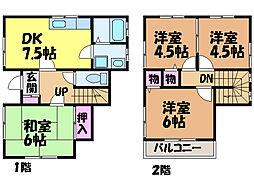 [一戸建] 愛媛県松山市鷹子町 の賃貸【/】の間取り