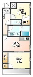 新田メゾン[3階]の間取り