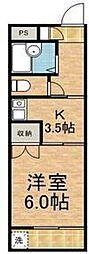 東京都世田谷区千歳台3丁目の賃貸マンションの間取り