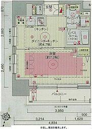 エステムプラザ飯田橋タワーレジデンス 9階1DKの間取り