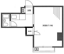 セントラルマンション本郷[201号室]の間取り