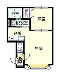 チヨダガーデン[2階]の間取り