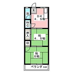第1トミエマンション[4階]の間取り