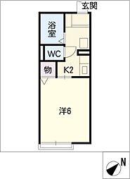 オークプラザ[1階]の間取り