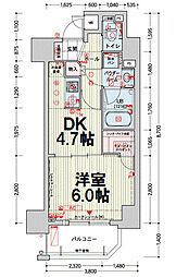 クレアートアドバンス北大阪[1001号室]の間取り