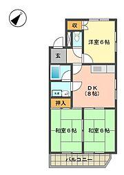 扶桑ハイツ3[2階]の間取り