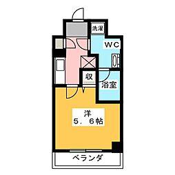 LUMEED川崎 9階1Kの間取り