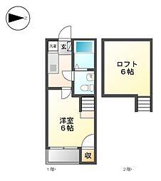 Loft5志賀本通[1階]の間取り