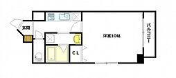 JR可部線 古市橋駅 徒歩4分の賃貸マンション 8階1Kの間取り