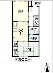 REVER AJISAI[2階]の間取り