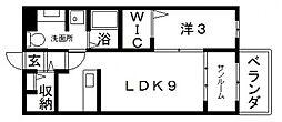 ベルアージュ1番館[1階]の間取り