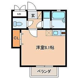 奈良屋アネックス[8階]の間取り