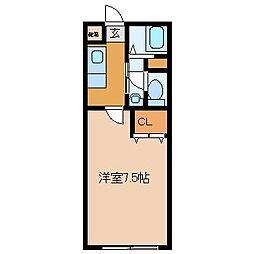 プレミエールキク[1階]の間取り