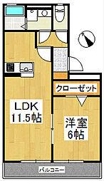 カトレアコート[3階]の間取り