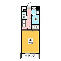 コンフォート第2岩倉[4階]の間取り