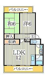 パークシティ白扇2号棟[1階]の間取り