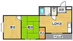 城マンション[4階]の間取り