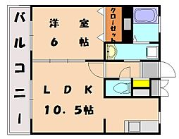 福岡県福岡市東区唐原7丁目の賃貸マンションの間取り