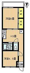 メゾン富士[306号室号室]の間取り