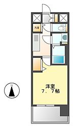 プレサンスジェネ栄[2階]の間取り