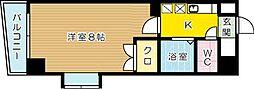 メゾンOM紫川[6階]の間取り
