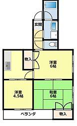 愛知県豊田市挙母町3丁目の賃貸マンションの間取り