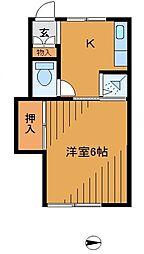 サニーマイホーム[1階]の間取り