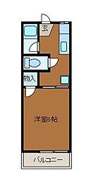 ビクトリアミューズ[1階]の間取り