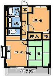 キンコーハウス都賀[201号室]の間取り