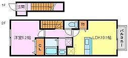 グリンアベニューA棟[2階]の間取り