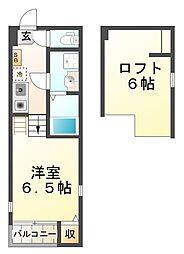 兵庫県神戸市垂水区川原1丁目の賃貸アパートの間取り