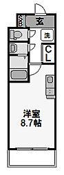 UURコート大阪十三本町[307号室]の間取り