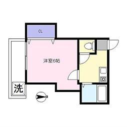 ちとせ荘[B号室]の間取り