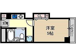 ハイツオーキタ本町[2階]の間取り