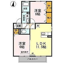 ソレイユ千田 E棟[2階]の間取り
