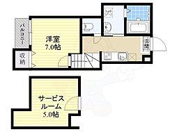 六本松555 1階1Kの間取り