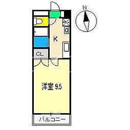 マンションセレスト[3階]の間取り