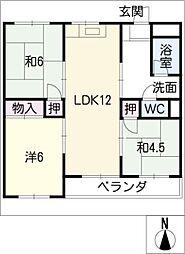 野黒住宅 403号室[4階]の間取り