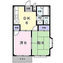 オギワラハイツA[0101号室]の間取り